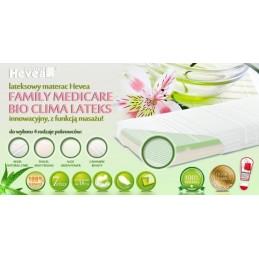 Materac lateksowy Hevea Family CLIMALATEKS WYRÓB MEDYCZNY 8%