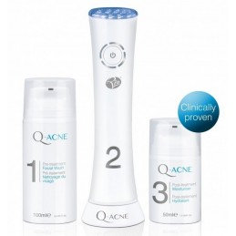 Zaawansowany zestaw do leczenia skóry trądzikowej, niebieskie światło. Produkt medyczny