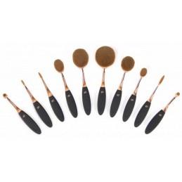 Zestaw profesjonalnych szczotek do makijażu