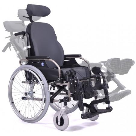 Wózek inwalidzki specjalny o podwyższonym komforcie stabilizujący głowę i plecy