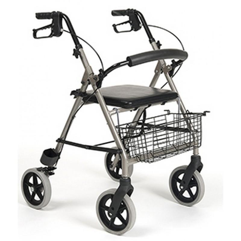 Balkonik aluminiowy czterokołowy  ECO Light koszyk na zakupy