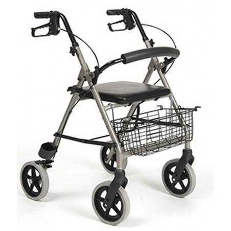 Balkonik aluminiowy czterokołowy + koszyk na zakupy