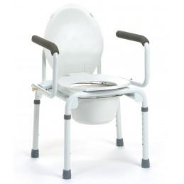 STACY  Krzesło toaletowe  Taboret toaletowy . Odchylane podłokietniki. Wyciągany pojemnik sanitarny