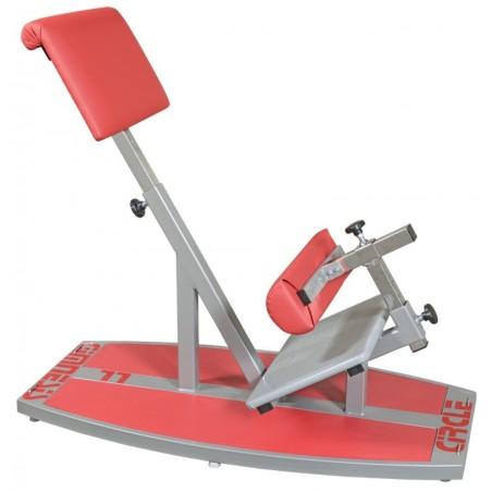 Urządzenie do treningu mięśni tułowia w pozycji bocznej lub przodem, trening obwodowy