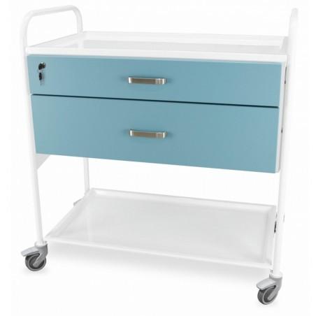 Wózek wielofunkcyjny do gabinetu zabiegowego, 2 szuflady