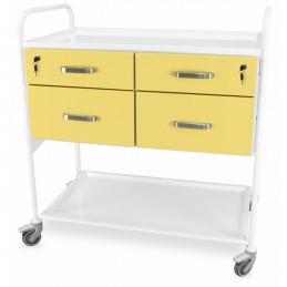 Wózek wielofunkcyjny do gabinetu zabiegowego, 4 szuflady