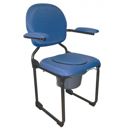Fotel sanitarny z pojemnikiem, tapicerowany, składany
