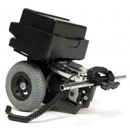 Asystent opiekuna, pomaga manewrować wózkiem, elektryczny