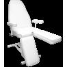 Fotel kosmetyczny elektryczny, 4 siłowniki, dzielony podnóżek do pedicure
