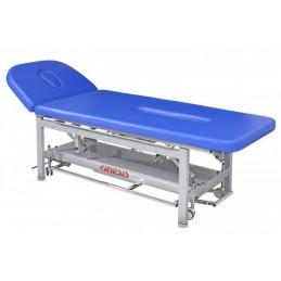 Stół rehabilitacyjny elektryczny z uchwytami do mocowania pasów stabilizujących