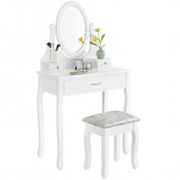 Toaletka biała lustro 3...