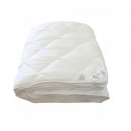Zestaw kołdra DUO lato/zima podwójna z wypełnieniem poliestrem silikonizowanym + 4 poduszki