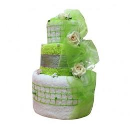 Zestaw ślub urodziny rocznica tort + bukiet z ręczników