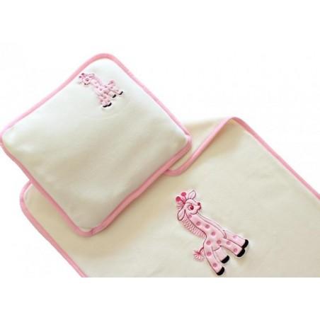 Komplet dziecięcy polarowej kołdra i poduszka, wzory, hafty