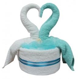 Łabędźie z ręczników, ślub, walentynki, rocznica, jubileusz,urodziny,haft