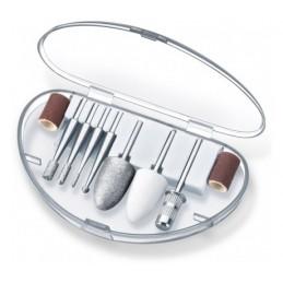 Profesjonalny zestaw do manicure/pedicure, 10 końcówek, powłoka szafirowa, doskonały dla cukrzyków