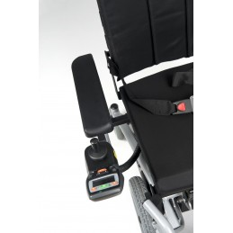 Wózek inwalidzki specjalny z napędem elektrycznym pokojowo terenowy, napęd na przednie koła