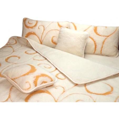 Zestaw SOLO merynos baranizowany, kołdra+ podkład + poduszka