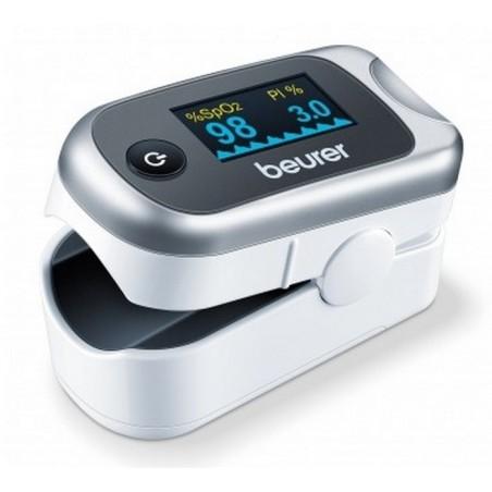BEURER Pulsoksymetr, pomiar saturacji i bicia serca, wskaźnik modulacji tętna PMI- kolorowy wyświetlacz