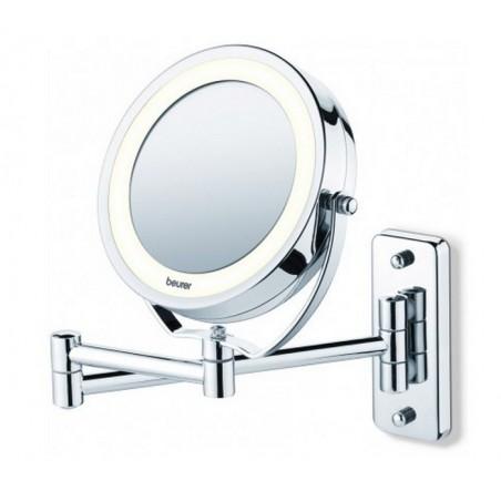 Lusterko kosmetyczne z podświetleniem LED, 5x powiększa, do powieszenia, 2w1