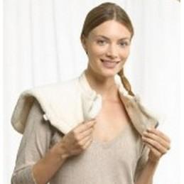 Poduszka rozgrzewająca na ramiona i kark, delikatny materiał, zapięcie na magnes
