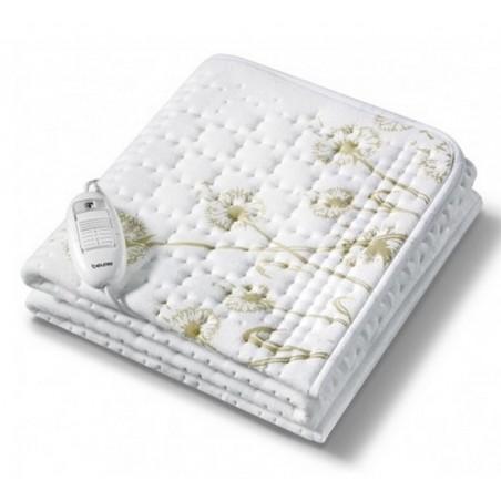 BEURER Wkład rozgrzewający do łóżka, piękny design w kwiaty, oddychający materiał, 3 poziomy temperatury