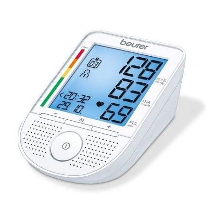 BEURER Ciśnieniomierz naramienny mówiący, Niebieski wyświetlacz LCD, wskaźnik arytmii