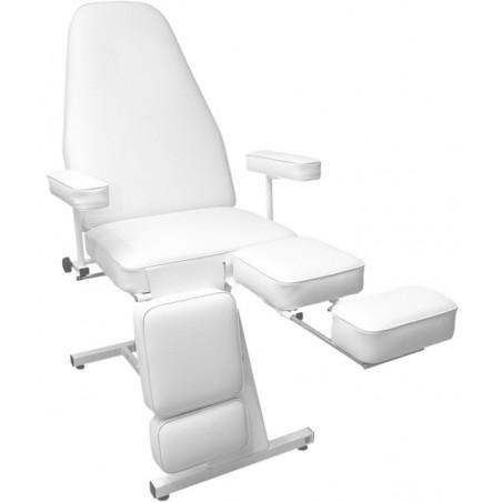 Fotel do gabinetu kosmetycznego do pedicure- sterowany elektronicznie za pomocą pilota, dzielony podnóżek