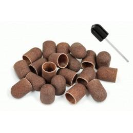 Zestaw frezów: 20 kapek i nośnik gumowy 10 mm lub 13 mm do pedicure