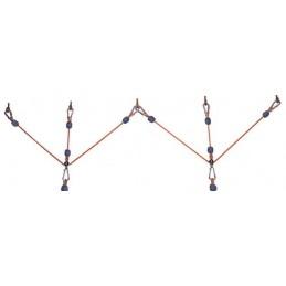 Podwiesie sufitowe z lin - jednopunktowe
