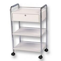 Pomocnik kosmetyczny z szufladą, półka na kółkach