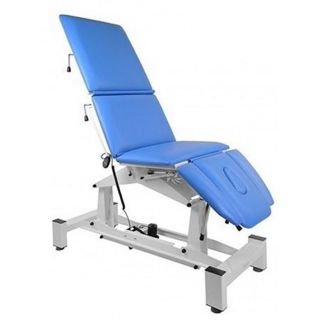 Stół rehabilitacyjny,  zakres kątów nachylenia poszczególnych segmentów