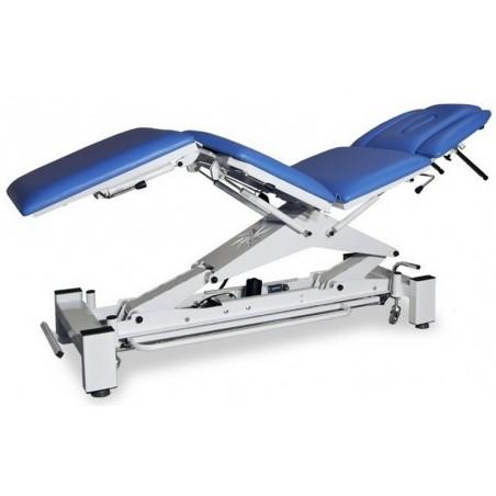 Stół rehabilitacyjny, trakcja lędźwiowego odcinka kręgosłupa, czteroczęściowy
