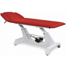 JUVENTAS dwuczęściowy stół rehabilitacyjny z otworami w podgłówku oraz w leżu.