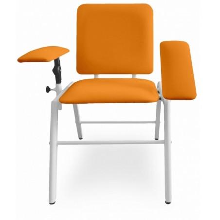 Fotel do pobierania krwi, dwa podłokietniki regulowane, do labaratorium