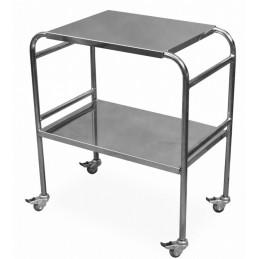 Stolik zabiegowy na kółkach jezdnych, dla pielęgniarek, wersja chrom