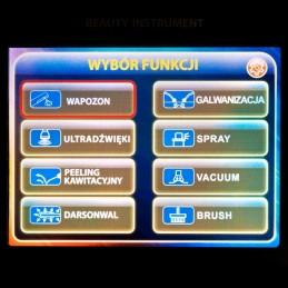 Kombajn kosmetyczny Yoshida professional, język polski, najnowsza generacja, dotykowy panel