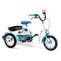Rower rehabilitacyjny trójkołowy dla dziewczynek w wieku 3-7 lat AQUA
