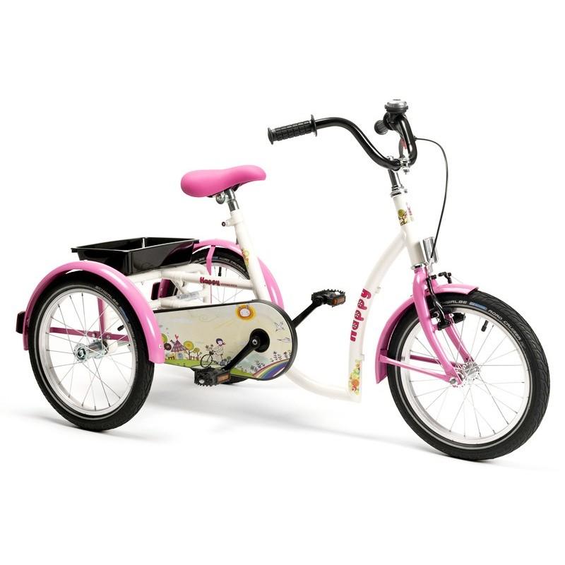 Rower rehabilitacyjny trójkołowy dla dziewczynek w wieku 8-13 lat HAPPY